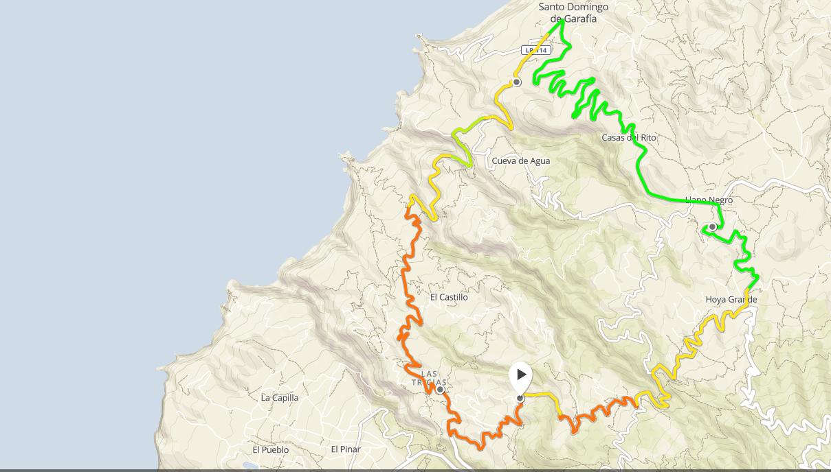 Garafia-La Costa- 1h28 33,2km +1020m