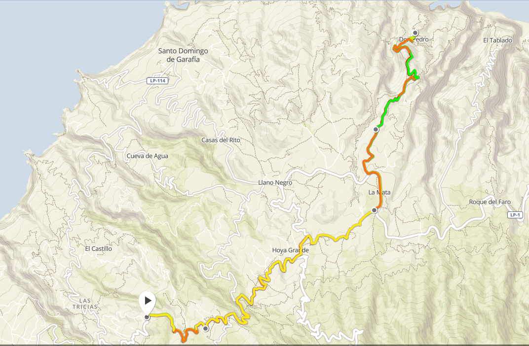 Montée de Don Pedro - 1h32 32,3km +992m