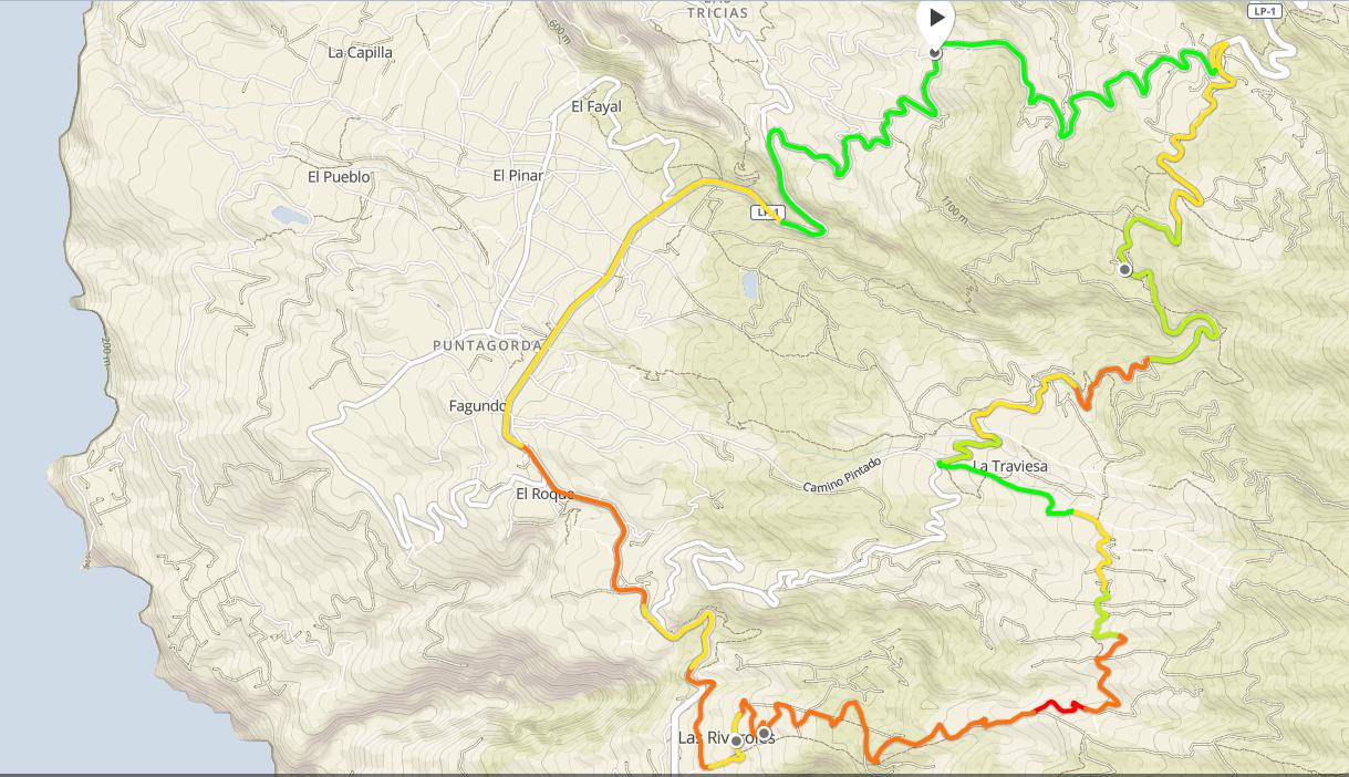 Tinizara ariba - La Traviesa - 1h17 26km +755m