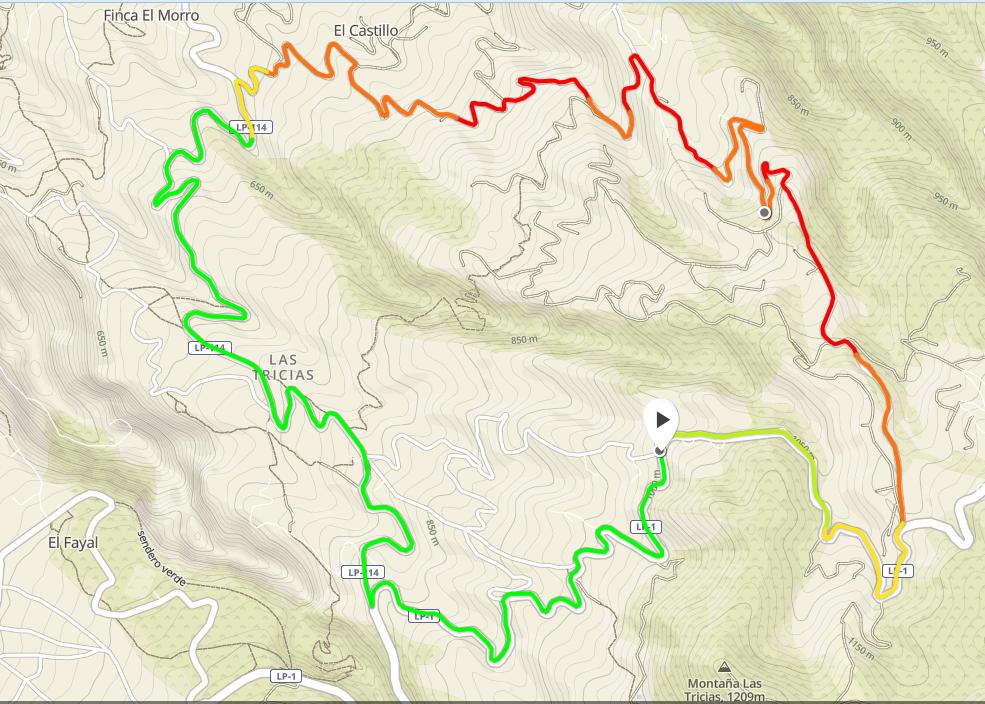 Tour d'El Castillo - 39mn 13,3km +500m