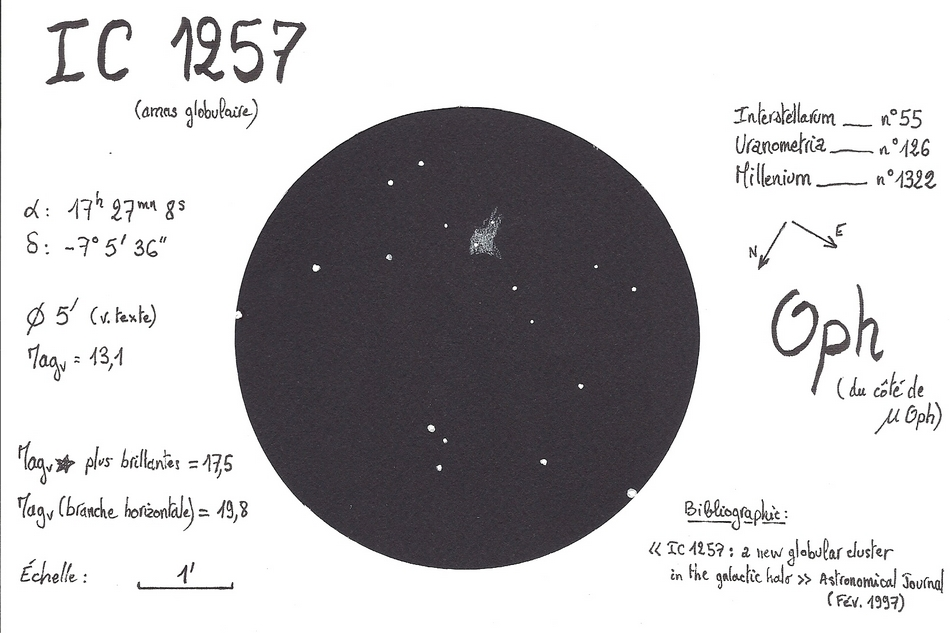 IC 1257 globular cluster in Ophiuchus